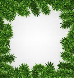 Fir christmas frame vector image