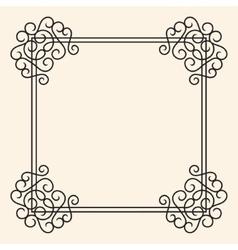 Flourish vintage frame vector