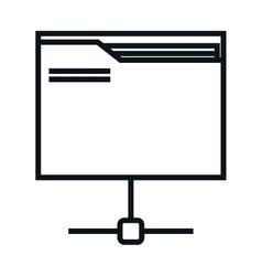 folder documents isolated icon vector image