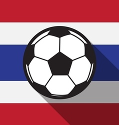 Football icon with thailand flag vector