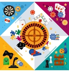 Game entertainment corner banne vector image