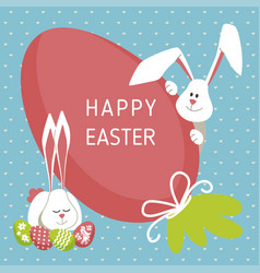 happy easter - modern card vector image vector image