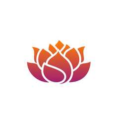 Lotus abstract flower business logo vector