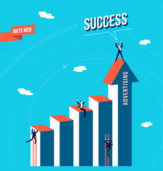 marketing web business team success concept vector image