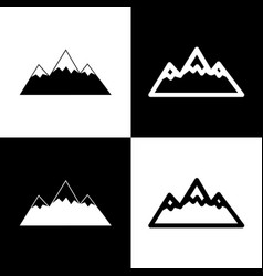 Mountain sign black and vector