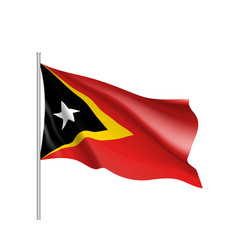 National flag of east timor vector