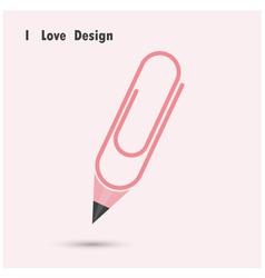 Pencil paper clip shape vector