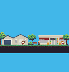 Pixel shop vector