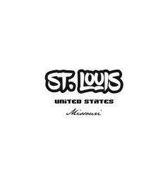 United states st louis missouri city graffitti vector