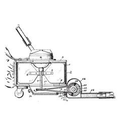 Vacuum cleaner vintage vector