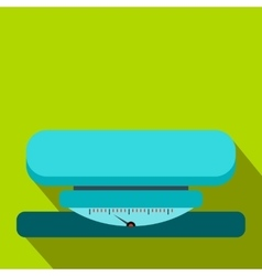 Weight scale flat icon vector