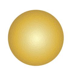 yellow glowing circle vector image