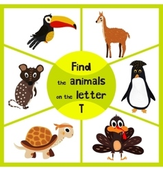 Funny learning maze game find all 3 cute wild vector