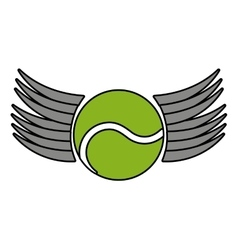Ball tennis sport equipment icon vector