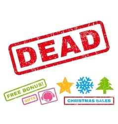 Dead rubber stamp vector