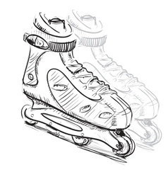 Roller skates vector image