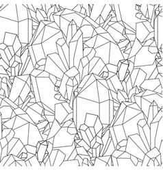 cute graphic crystal pattern vector image