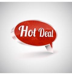 Hot deals icon vector image