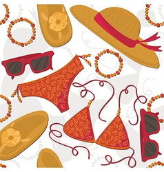 Summer outfit background vector