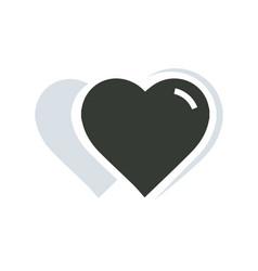 2 heart icon vector