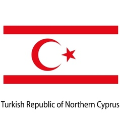 Flag the country turkish republic of northern vector