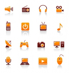 Media and telecom icons vector