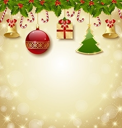 Traditional christmas decoration vector