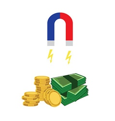 Magnet money vector