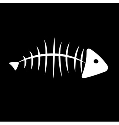 Fish bone background vector