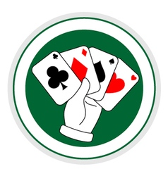 Poker sign vector