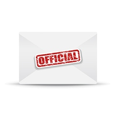 Official white closed envelope vector