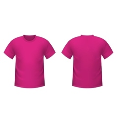 Realistic pink t-shirt vector