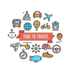 Travel concept card vector