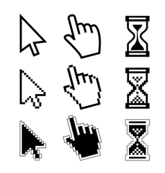 Icon cursor of mouse vector
