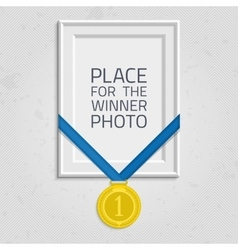 Frame for a photo with medal vector