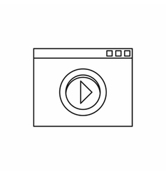 Video movie media player icon outline style vector