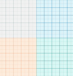 A set of graph paper in four colors Plotting paper vector image