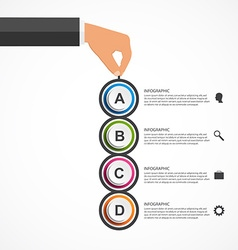 Abstract infographics design template with human vector