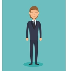 Businessman avatar elegant icon vector