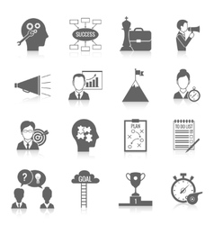 Coaching business icon black vector