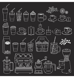 Coffee doodle icon style vector image