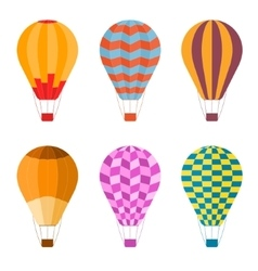 Colorful Air Balloon Set vector image