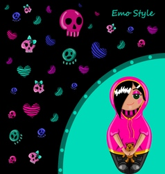 Emo style vector