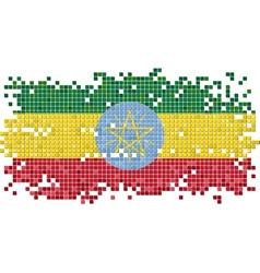 Ethiopian grunge tile flag vector