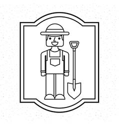 Farmer avatar character icon vector