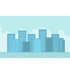 flat of city landscape vector image