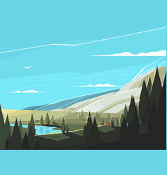 Forest natural landscape vector
