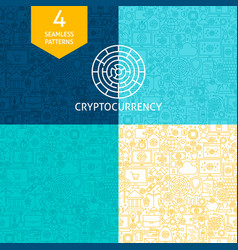 line cryptocurrency patterns vector image vector image