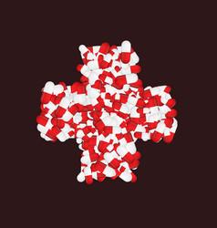 modern medicine cross background vector image vector image
