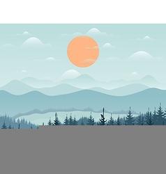 Mountain9 vector image
